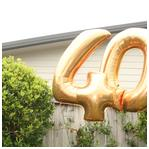 40th Giant Number Balloons