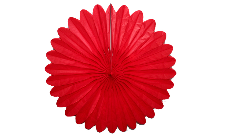 Honeycomb Tissue Fan - Berry Red