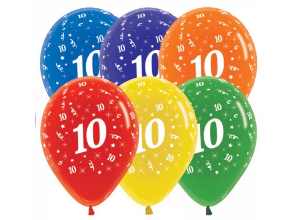 10th Birthday Balloon - Crystal