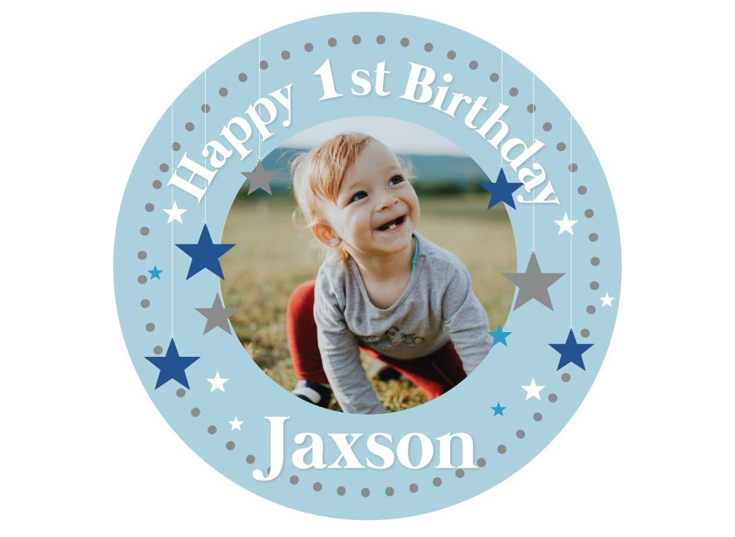 Personalised Edible Image - 1st Birthday Boy
