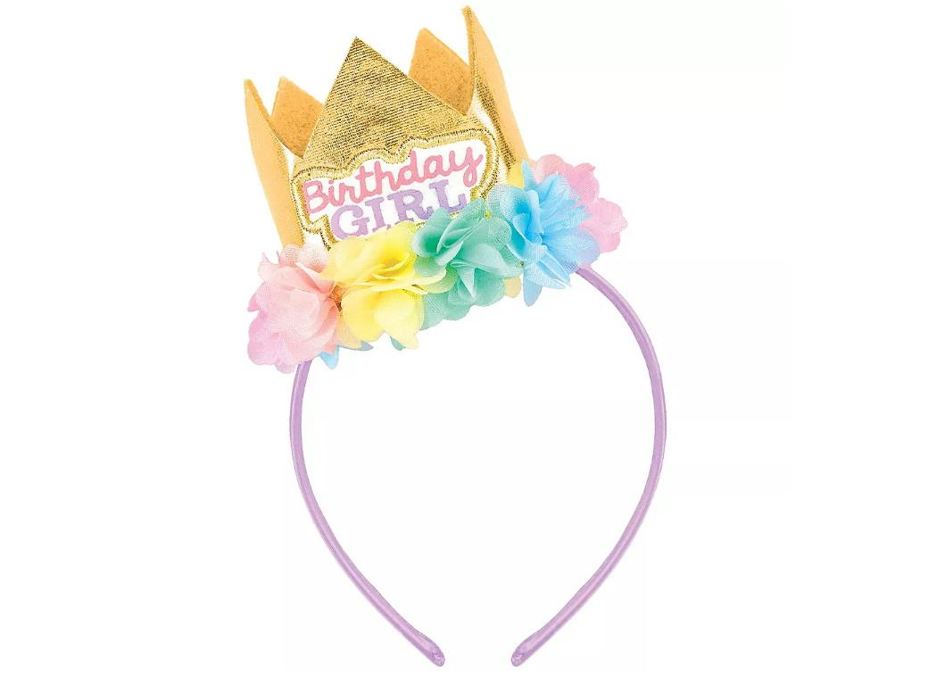 1st Birthday Deluxe Crown Headband
