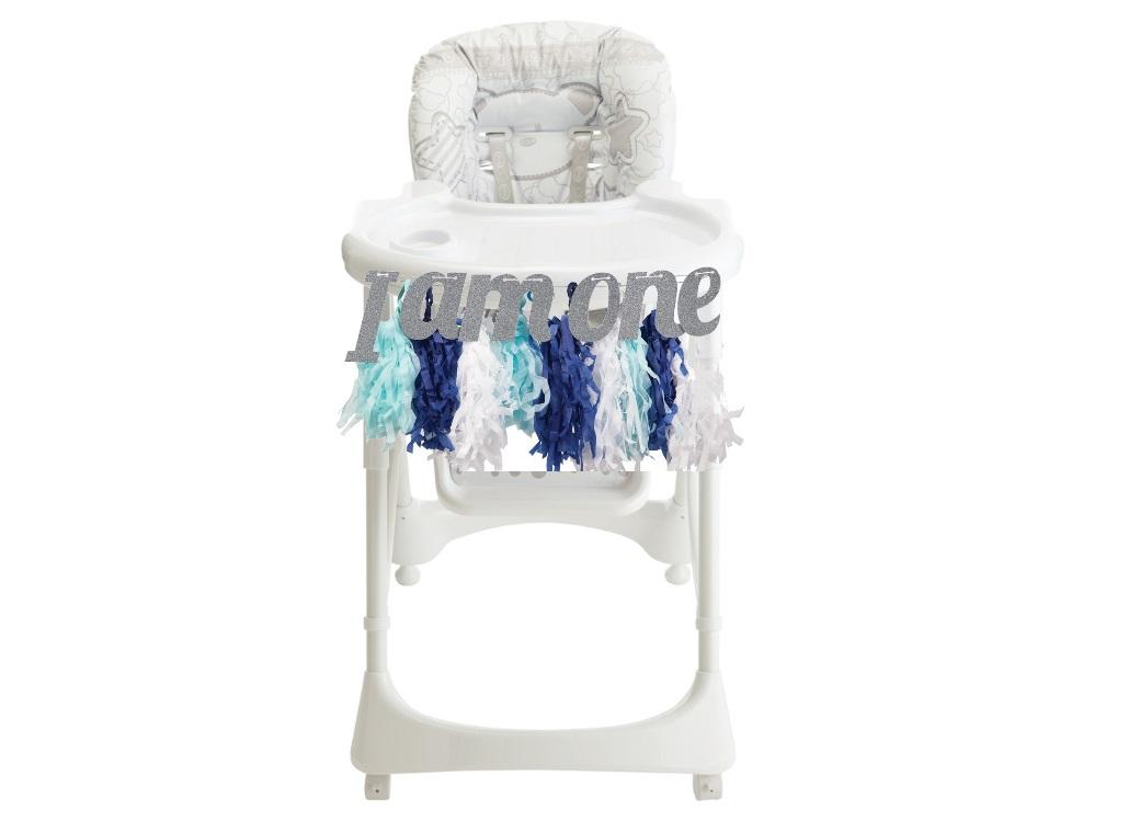 1st Birthday Highchair Kit - Blue