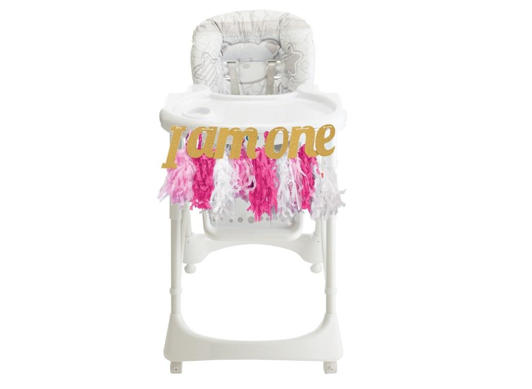 1st Birthday Highchair Kit - Pink