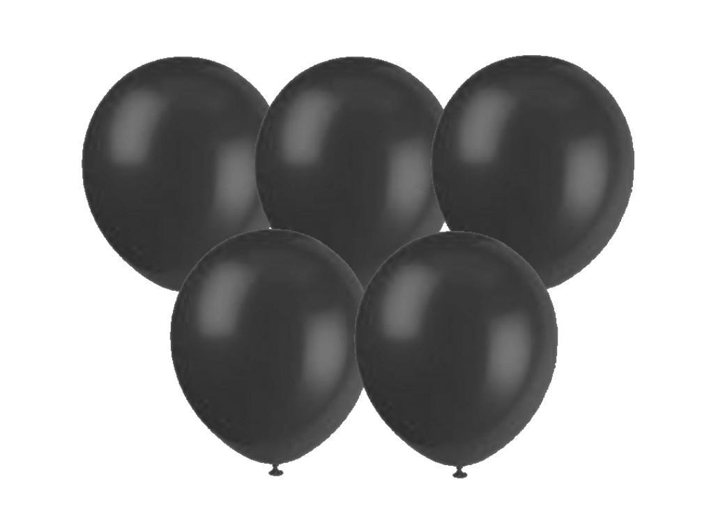 25PK Balloons - Black