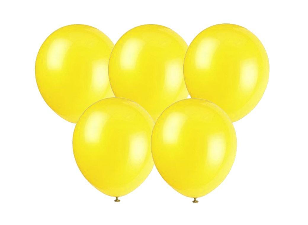 25PK Balloons - Yellow