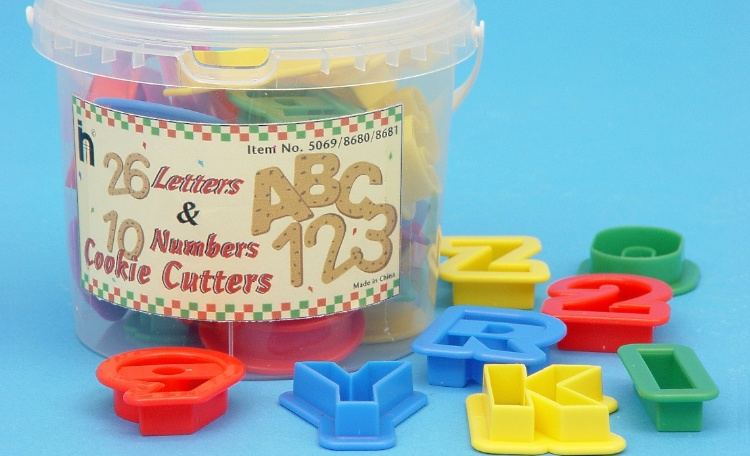 Alphabet & Number Cookie Cutter Set