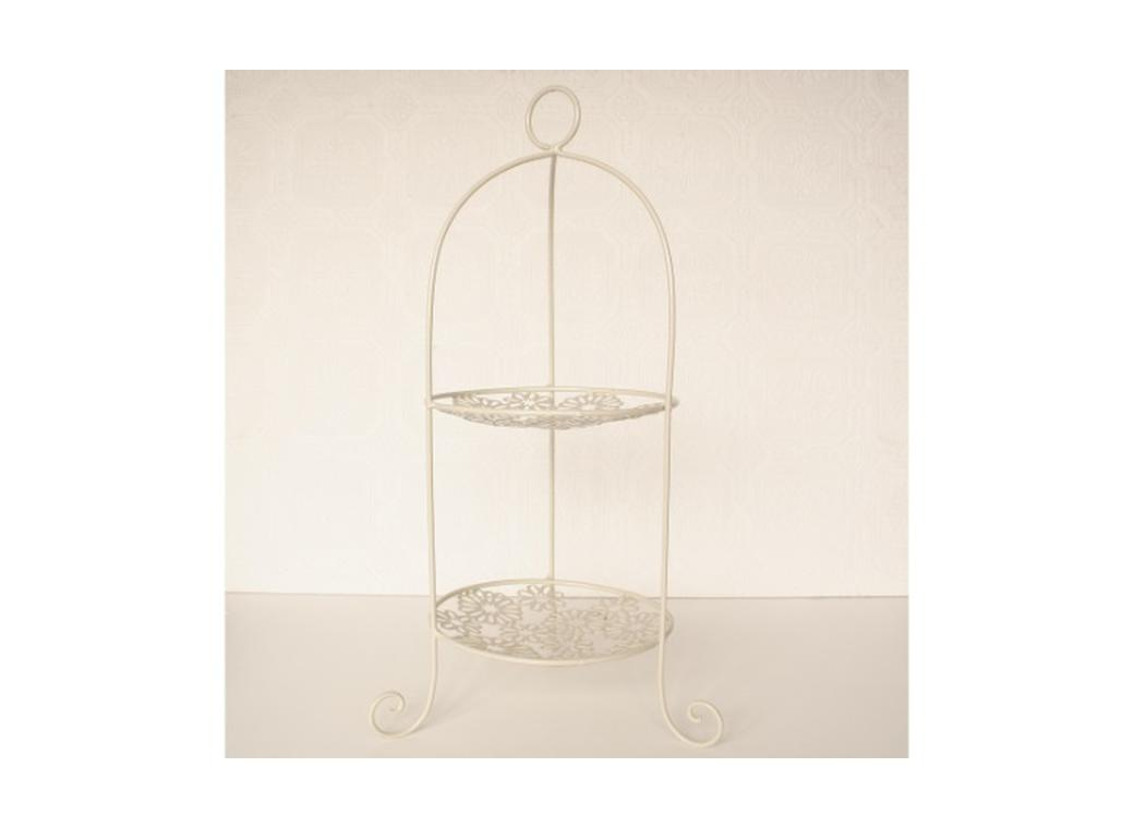 High Tea Cake Stand - 2 Tier Cream
