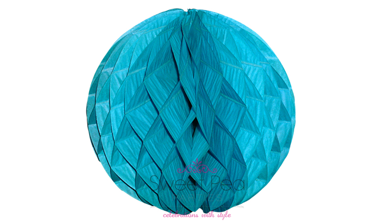 Tissue Honeycomb Ball 30cm - Aqua