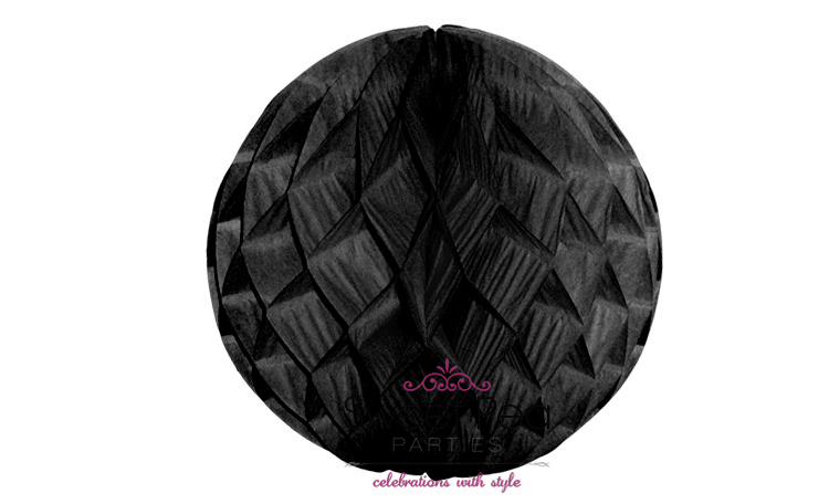 Tissue Honeycomb Ball 30cm - Black