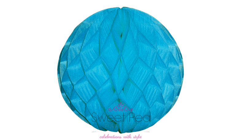 Tissue Honeycomb Ball 30cm - Blue