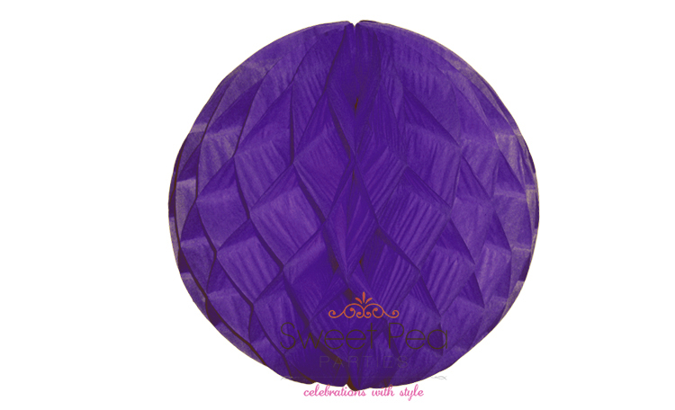 Tissue Honeycomb Ball 30cm - Purple