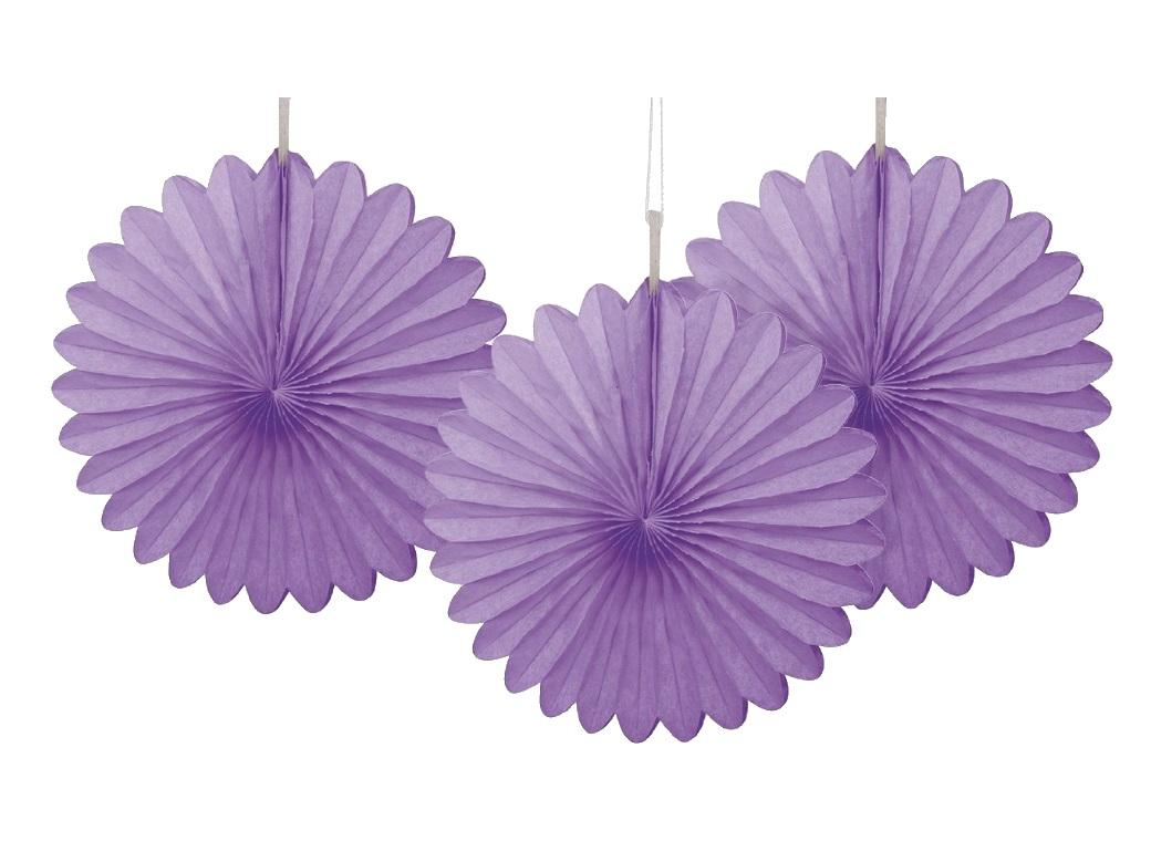 3 Pack Tissue Fans - Purple