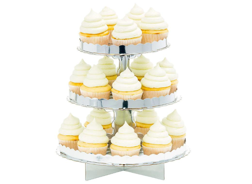 3 Tier Cupcake Stand - Silver
