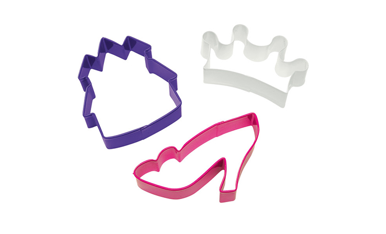 Wilton 3pc Princess Cookie Cutter Set