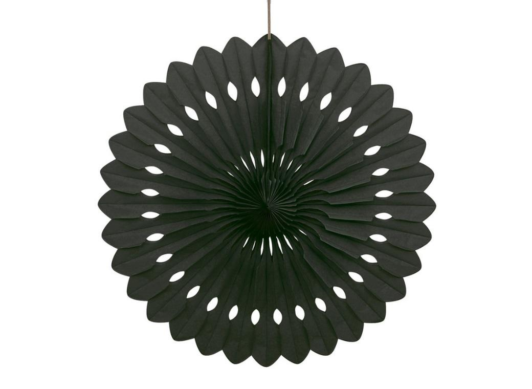 Decorative Fan 40cm - Black