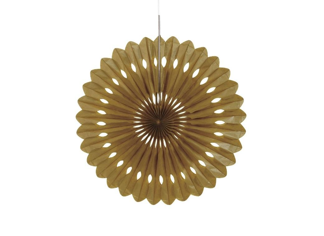 Decorative Fan 40cm - Gold