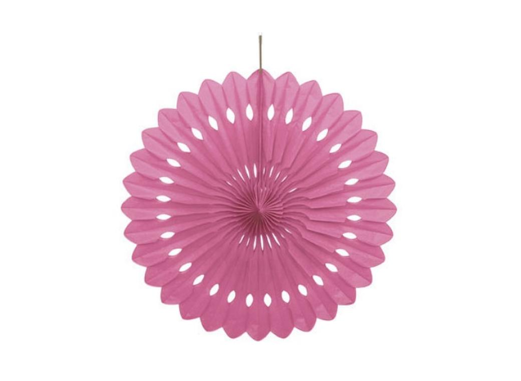 Decorative Fan 40cm - Hot Pink