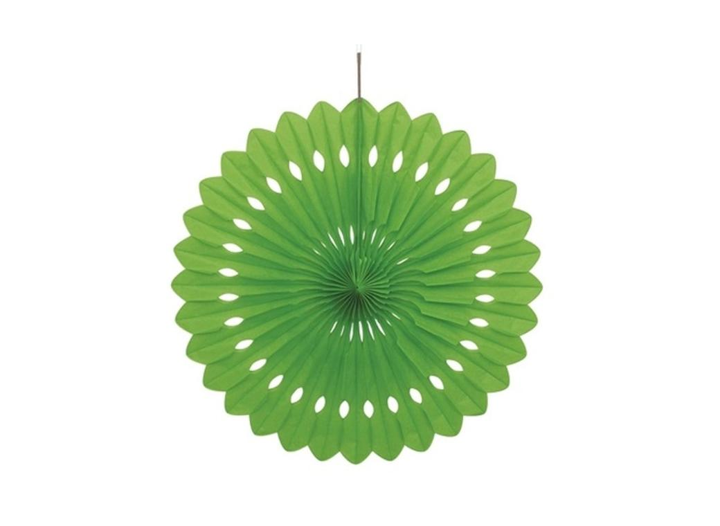 Decorative Fan 40cm - Light Green