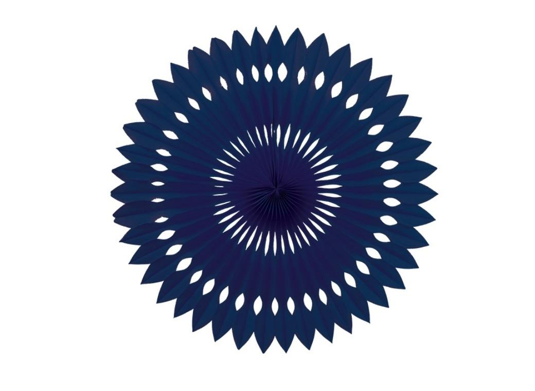 Decorative Fan 40cm - Navy Blue