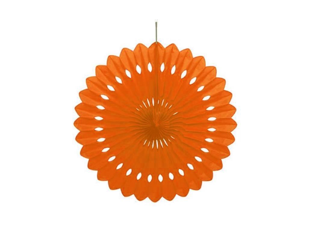 Decorative Fan 40cm - Orange