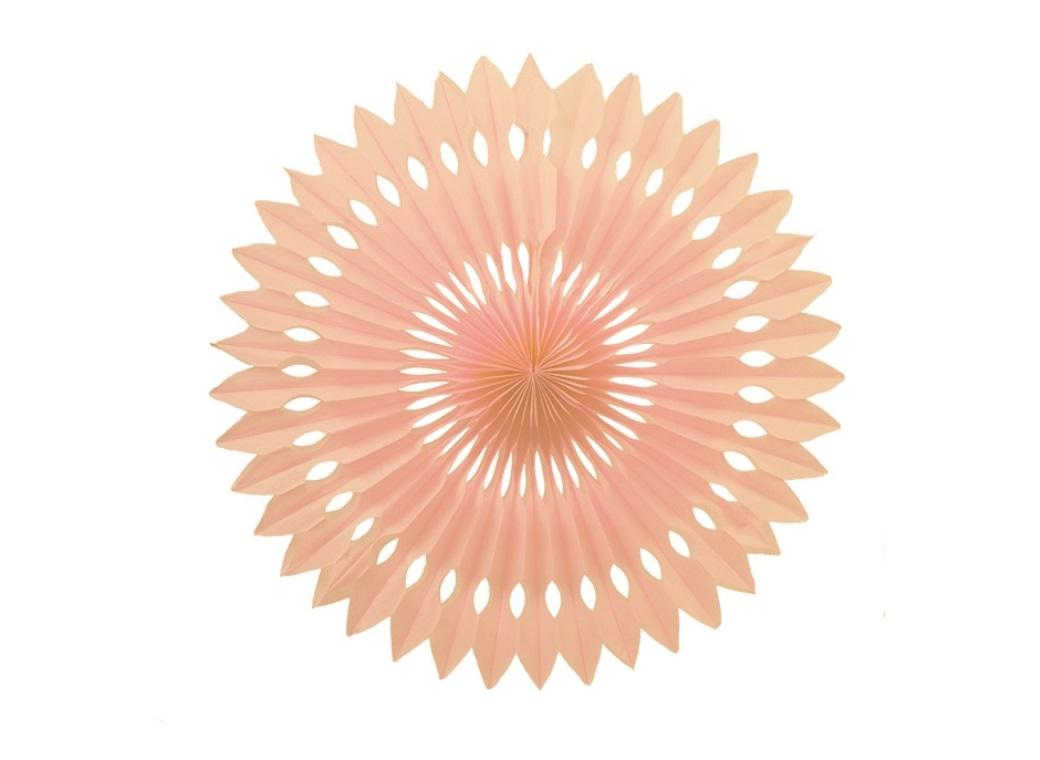 Decorative Fan 40cm - Peach