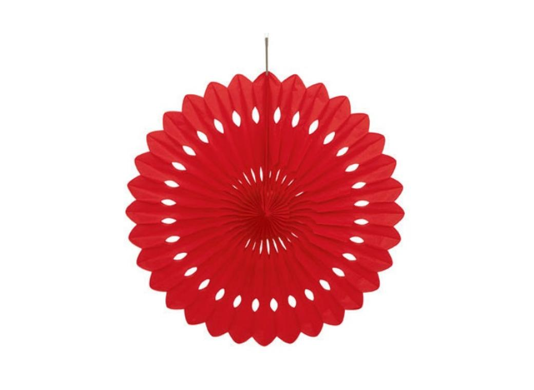 Decorative Fan 40cm - Red