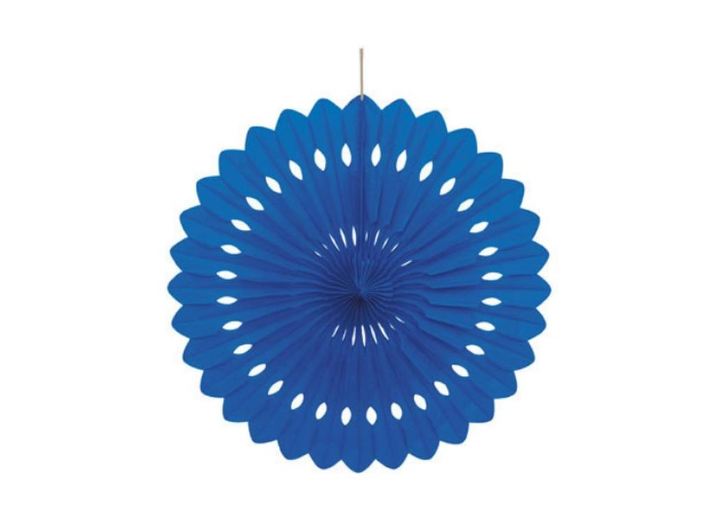 Decorative Fan 40cm - Royal Blue