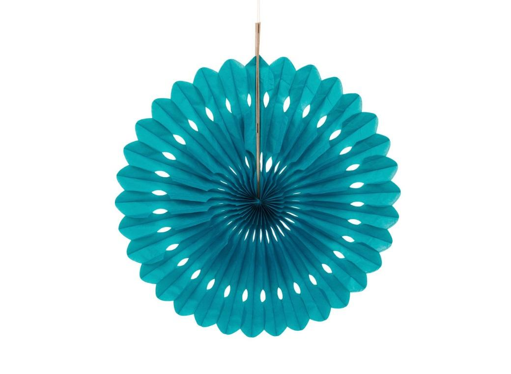 Decorative Fan 40cm - Teal