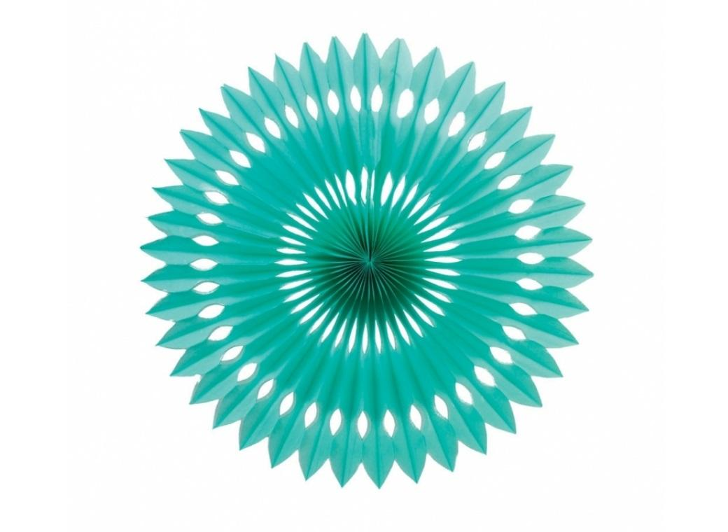 Decorative Fan 40cm - Turquoise