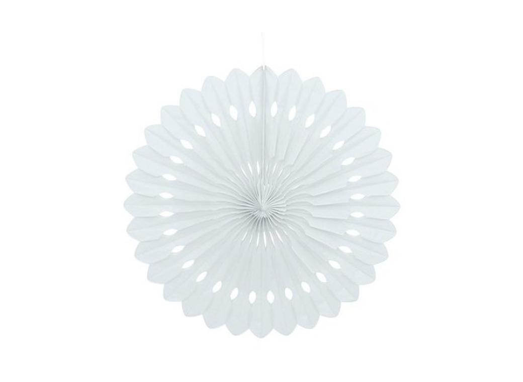 Decorative Fan 40cm - White