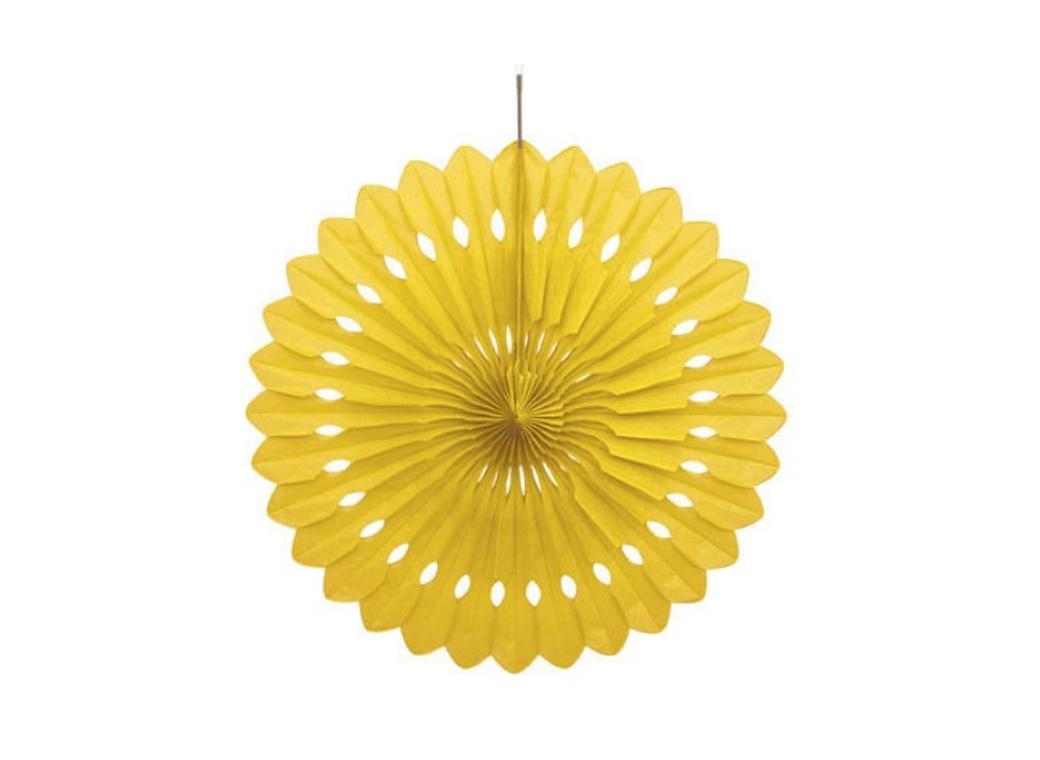 Decorative Fan 40cm - Yellow
