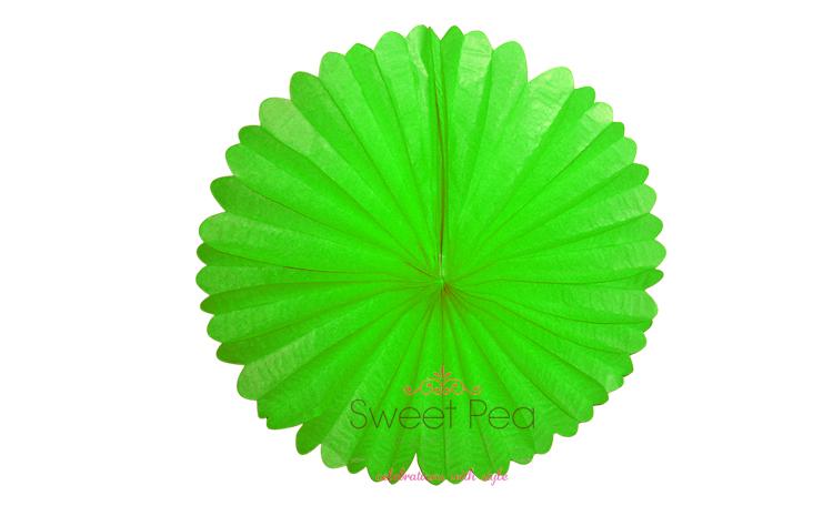 """Paper Fan 16"""" - Green"""