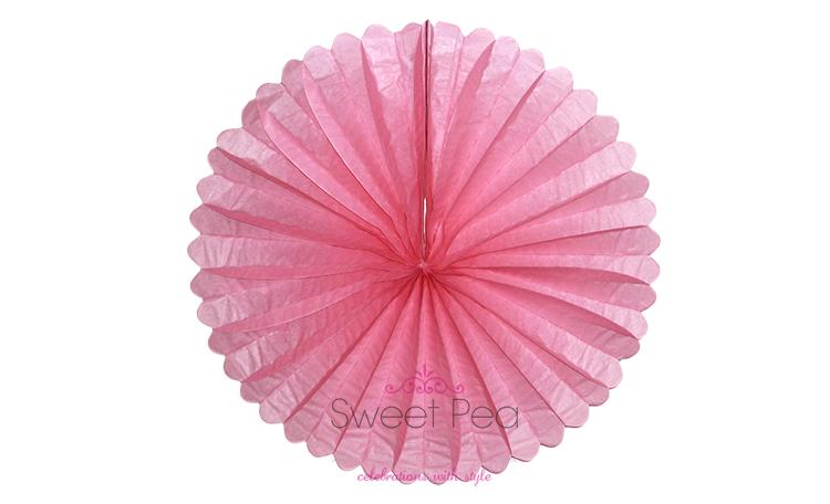 """Paper Fan 16"""" - Pink"""