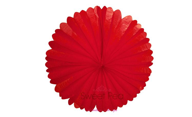 """Paper Fan 16"""" - Red"""