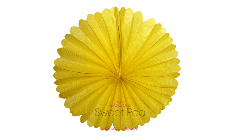 "Paper Fan 16"" - Yellow"