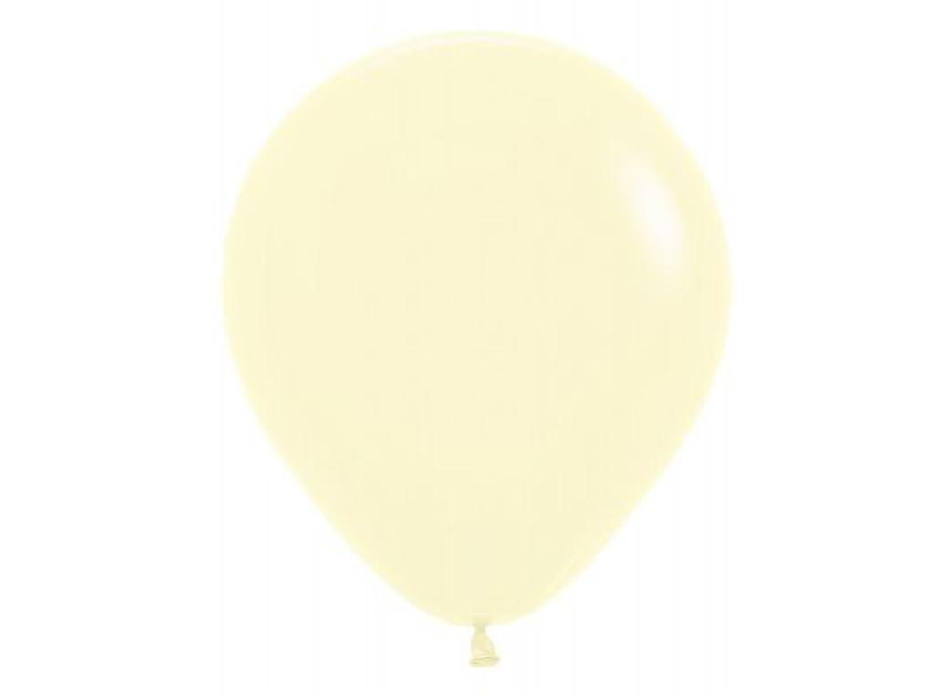 45cm Balloon - Pastel Matte Yellow