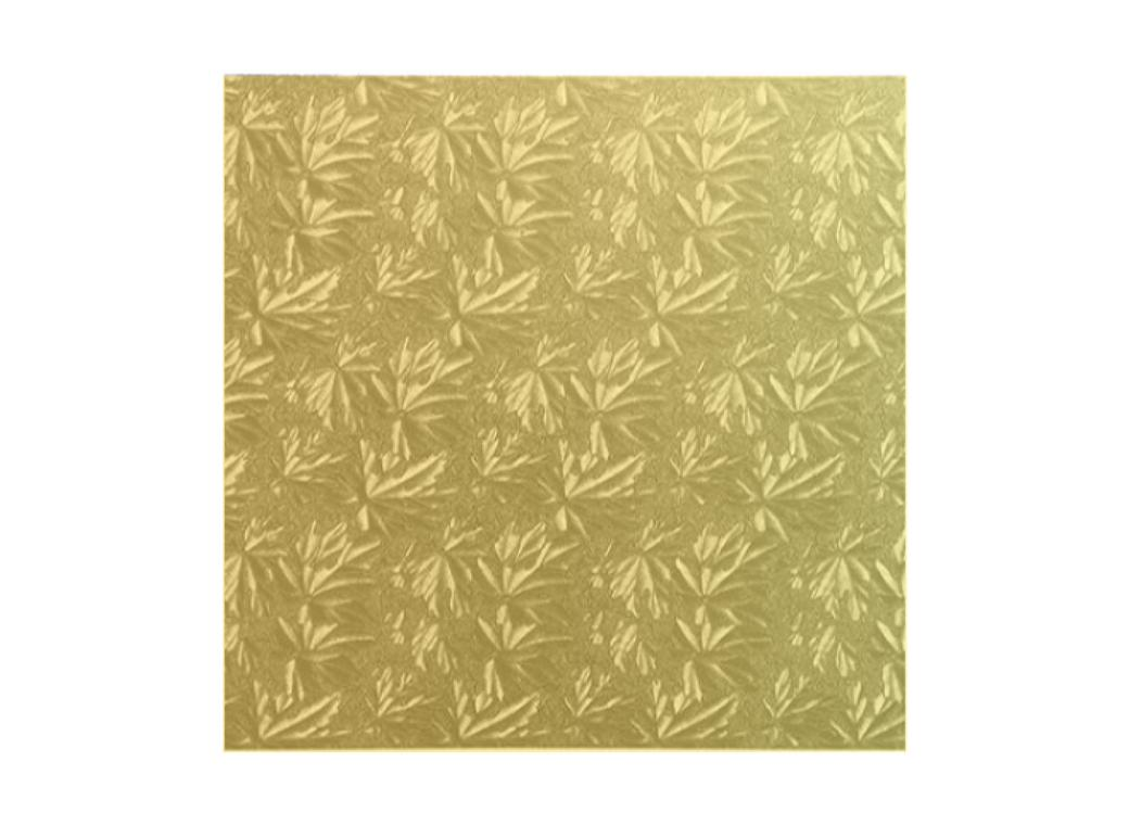 Gold Masonite Square Cake Board 10""