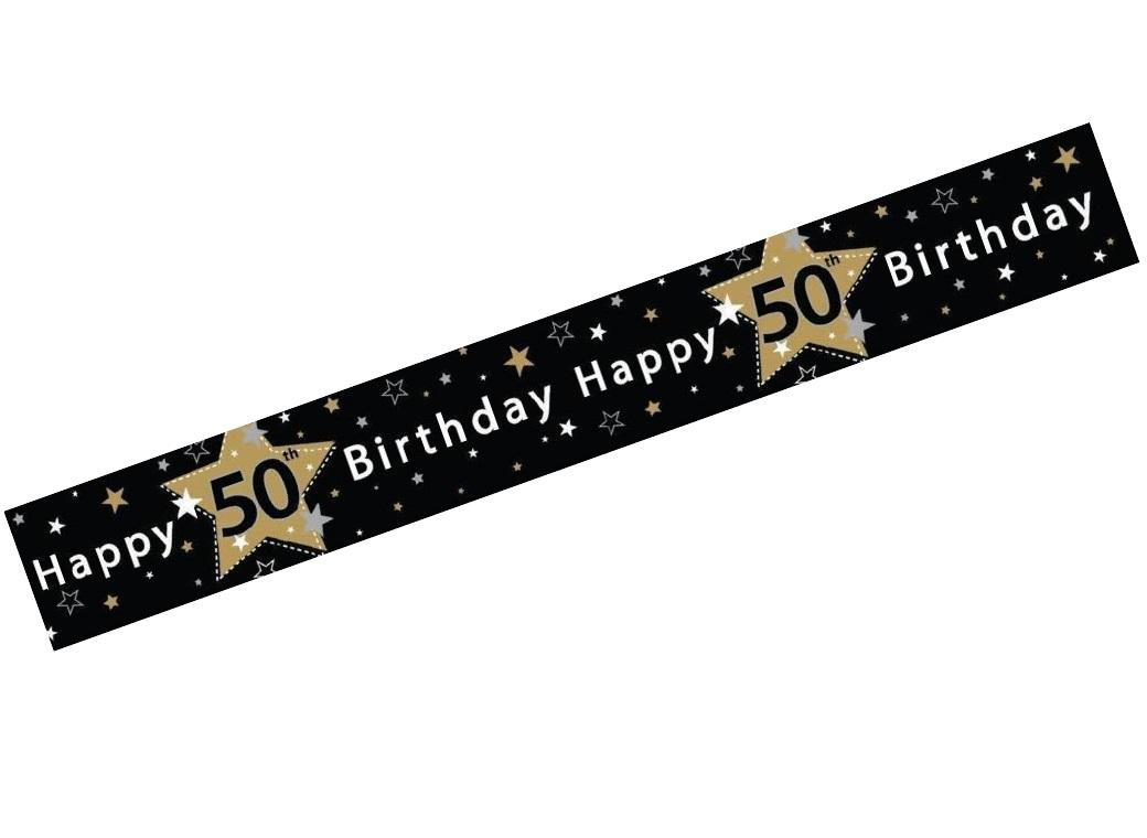 Sweet pea parties happy birthday banners 50th birthday banner publicscrutiny Image collections