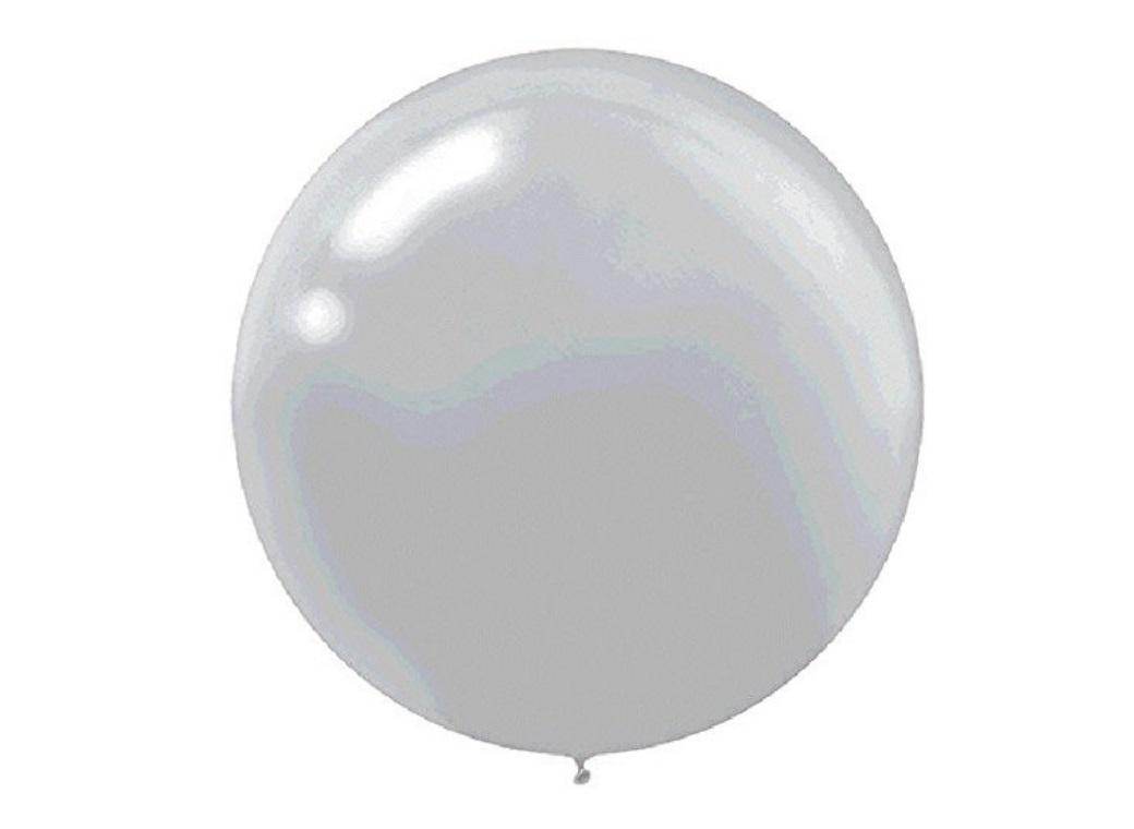 60cm Balloon - Metallic Silver