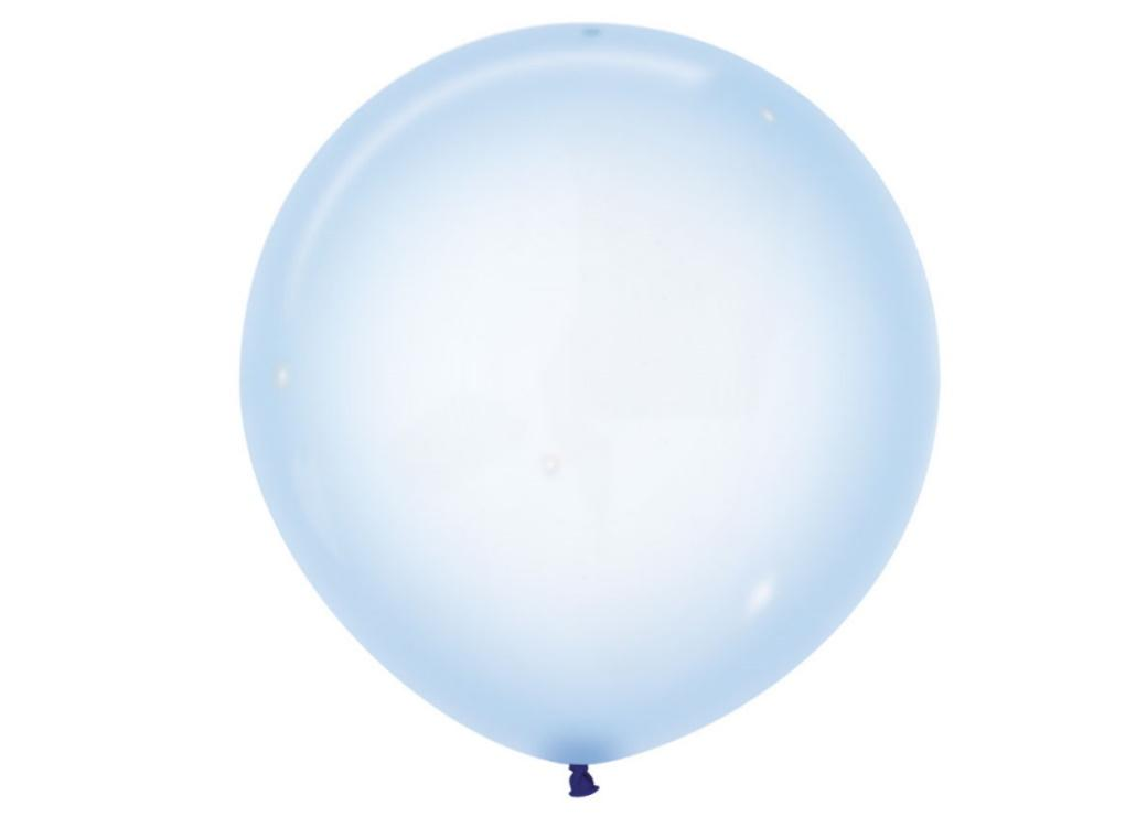 60cm Crystal Balloon - Pastel Blue