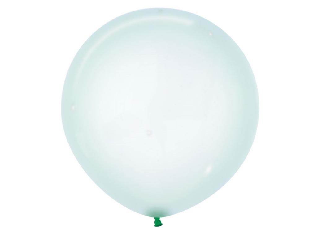 60cm Crystal Balloon - Pastel Green