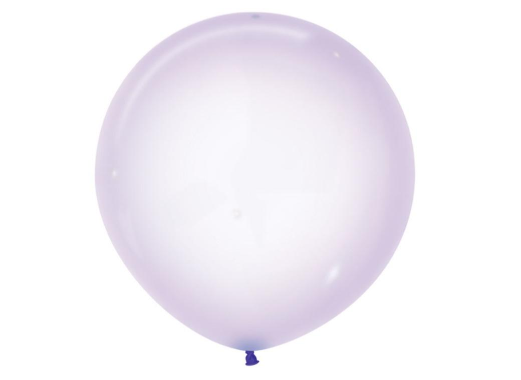60cm Crystal Balloon - Pastel Lilac