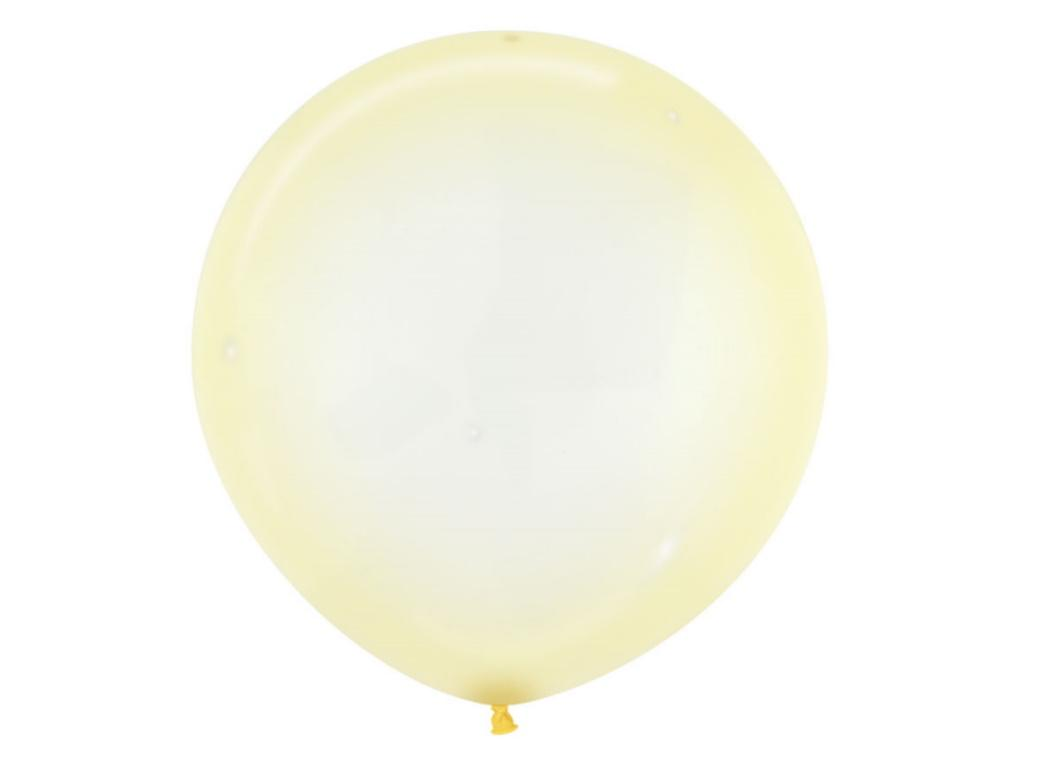60cm Crystal Balloon - Pastel Yellow
