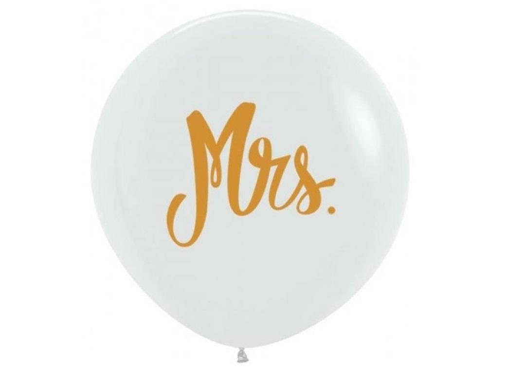 60cm Balloon - Gold Mrs
