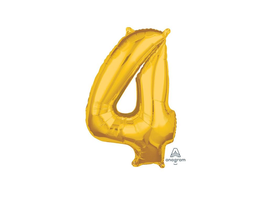 66cm Gold Number Balloon - 4