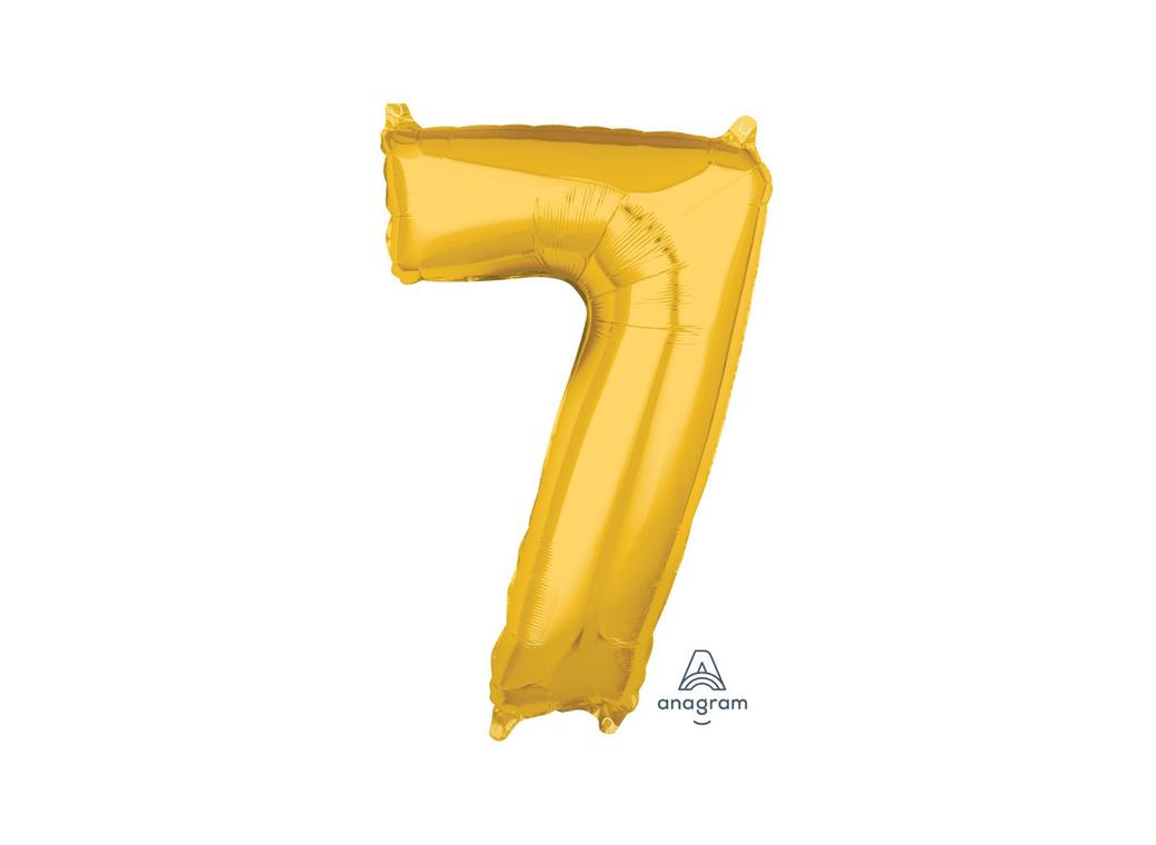 66cm Gold Number Balloon - 7