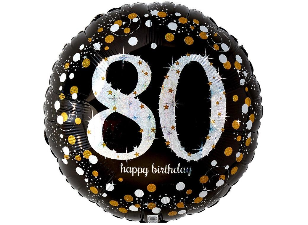 Sparkling 80th Birthday Foil Balloon