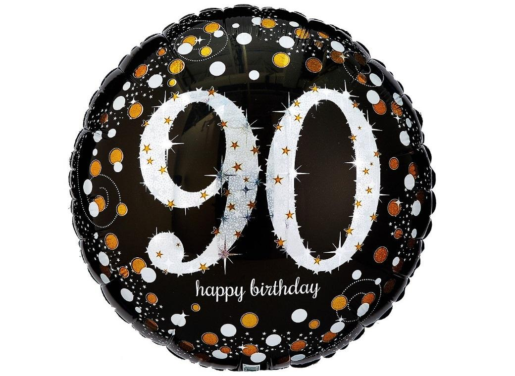 Sparkling 90th Birthday Foil Balloon