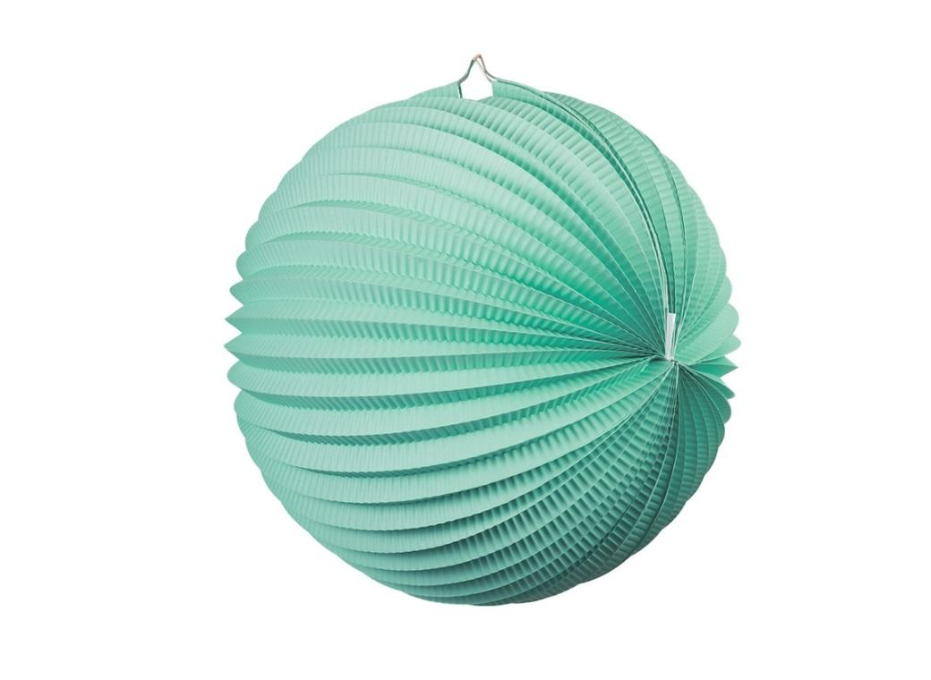 Accordion Lantern 25cm - Mint Green