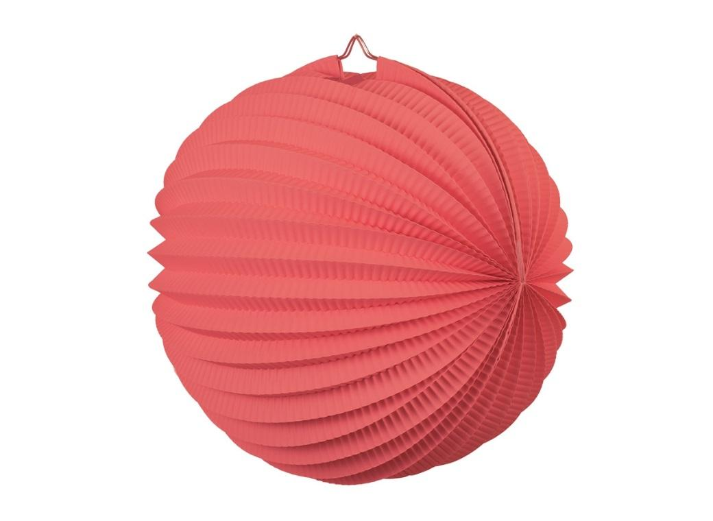 Accordion Lantern 35cm - Coral